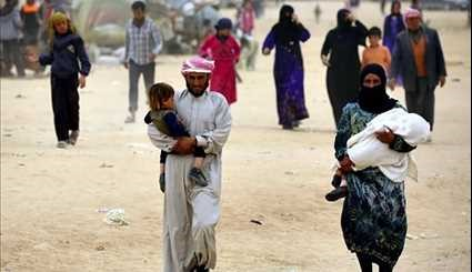 Displaced Syrians Linger at Temporary Camps Due to ISIL & US Attacks on Raqqa