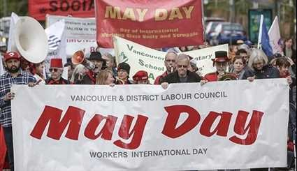 May Day Demonstrations Held across World