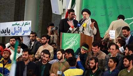 Iranian Presidential Candidate Raisi Continue Campaign Meetings in Qom