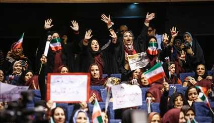 Female Supporters of Presidential Candidate Qalibaf Convene in Tehran