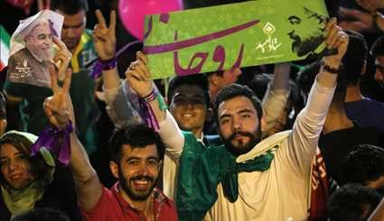Rouhani reelection celebrated in Tehran - 2
