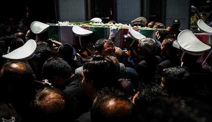 Large Crowd of People Attend Funeral Ceremony for Tehran