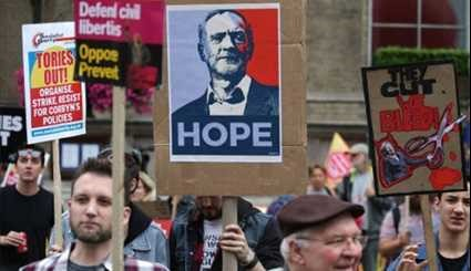 England: Thousands Gather in Central London for March against Theresa May
