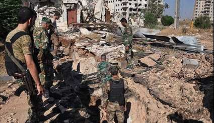 Syrian Army Continues Combing al-Wa'er Neighborhood in Homs Province