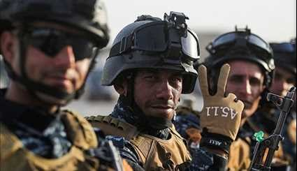 Iraqi Police Forces Celebrate as Mosul Battle Nears End