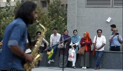 Live music in front of Jihad Square in Tehran