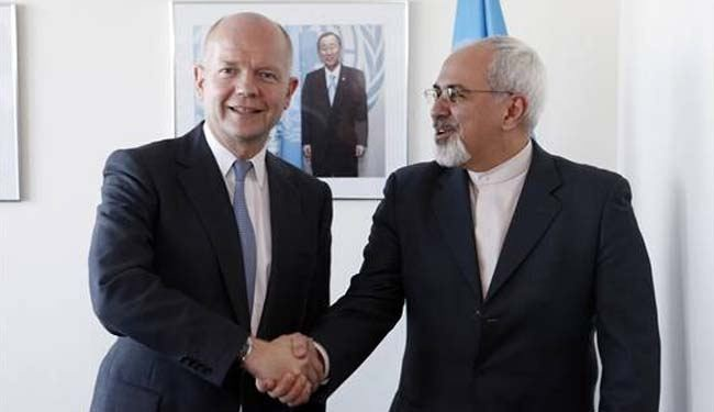 Iran, UK top diplomats discuss nuclear issue, Syria crisis in NY