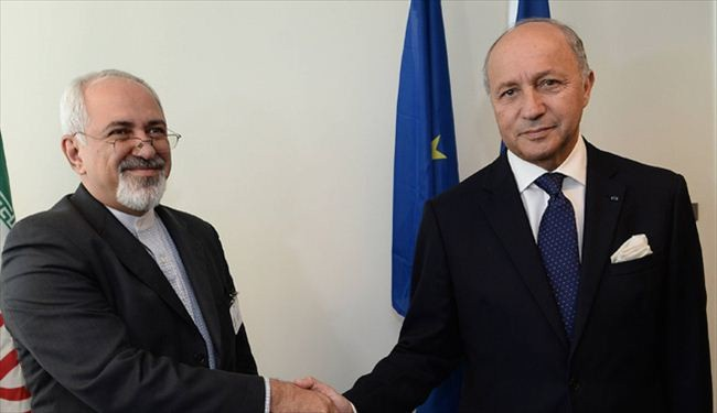 Iran, French FMs hold tete-a-tete meeting in NY