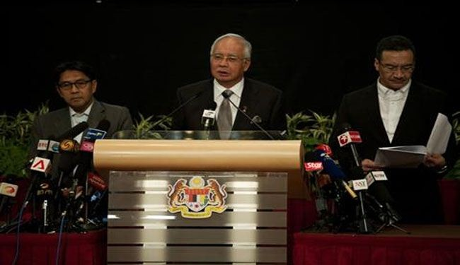 Missing plane crashed in Indian Ocean: Malaysia PM