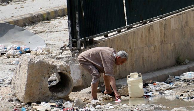 Syria rebels block drinking water in Aleppo, people use waste water