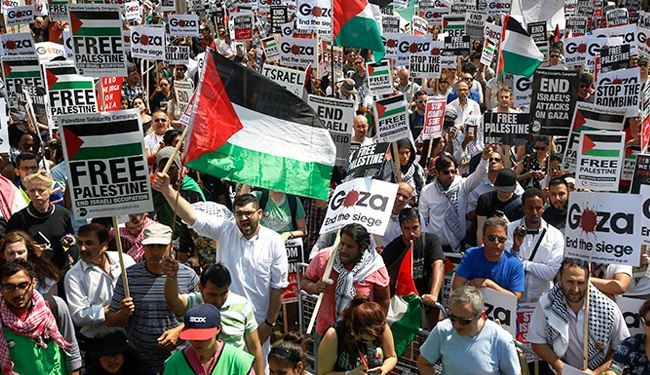 1000s rally against Gaza strikes in London, Paris, Dublin, Tel Aviv