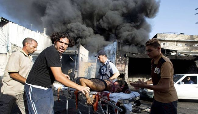 Israeli warplanes bomb market in Gaza, kill 17