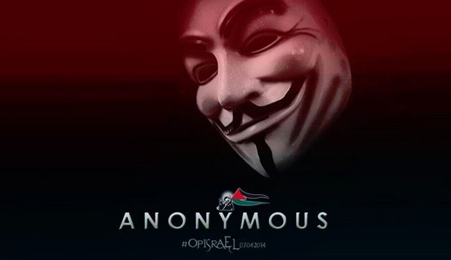 Anonymous strikes at Israeli websites over Gaza raids