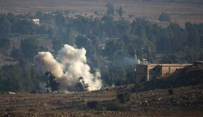 Syria army battles al-Nusra terrorists at Golan Heights