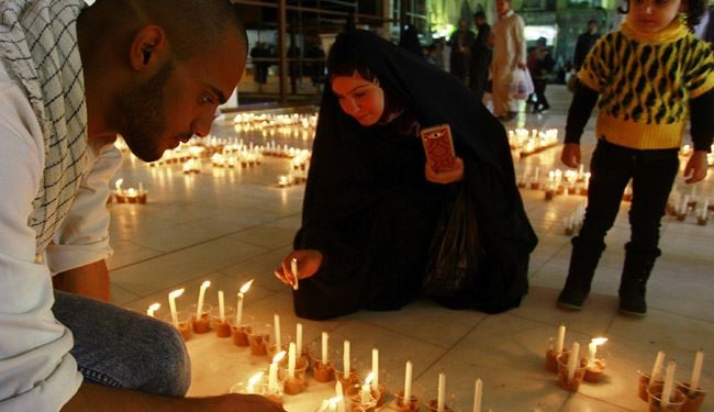 Candlelight Vigil for ISIS Victim's in Imam Ali Shrine