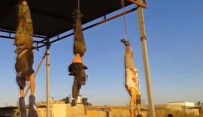 The Latest Brutal Display: ISIS Hang Bodies of Dead Soldiers at Entrance to City