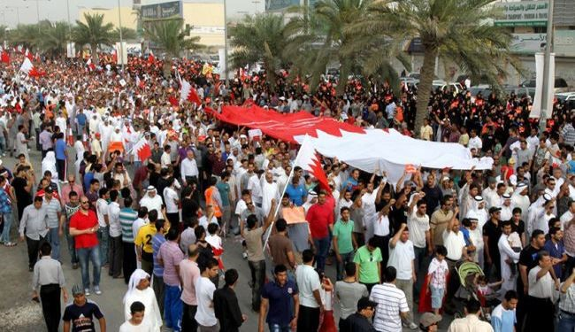 Bahrainis' Massive Protests in Solidarity with Political Prisoners