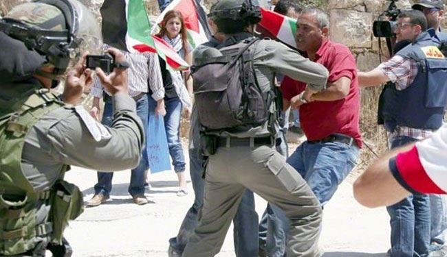 Occupation Forces Attack Palestinian Protesters in Beit Jala