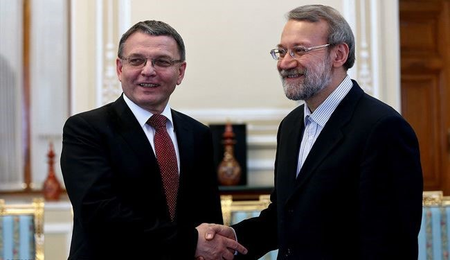 Iran's Parliament Speaker Receives Czech Foreign Minister
