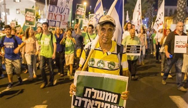 Thousands of Israelis Protest against Zionist Regime's PM Policies
