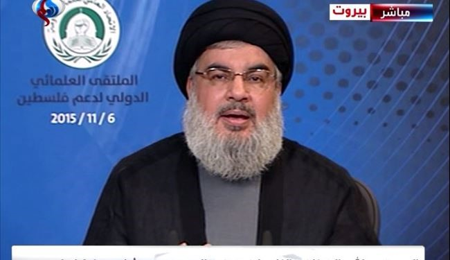"""Palestinian Intifada Frightened the Zionist"",Calls to support Intifada: Nasrallah"