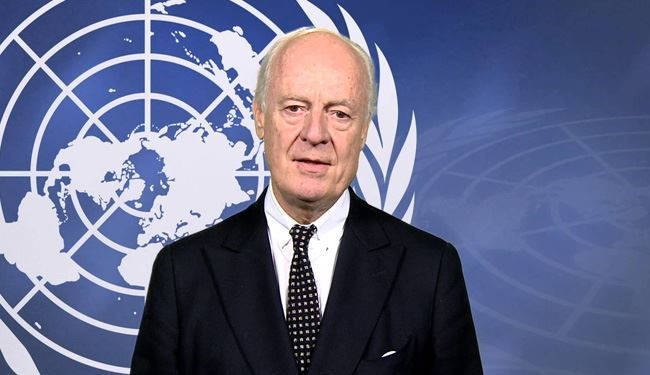 UN Syria Envoy 'Optimistic and Determined' after Meeting Opposition in Syria Talks