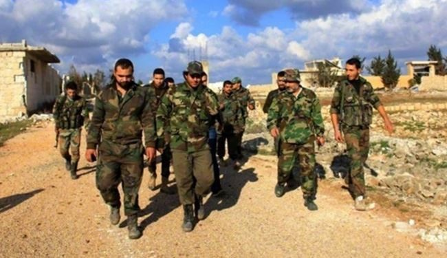 Syrian Army Troops Advancing toward Western Homs