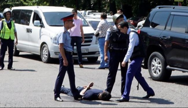 State of Red Level of Terror Threat in Almaty of Kazakhstan