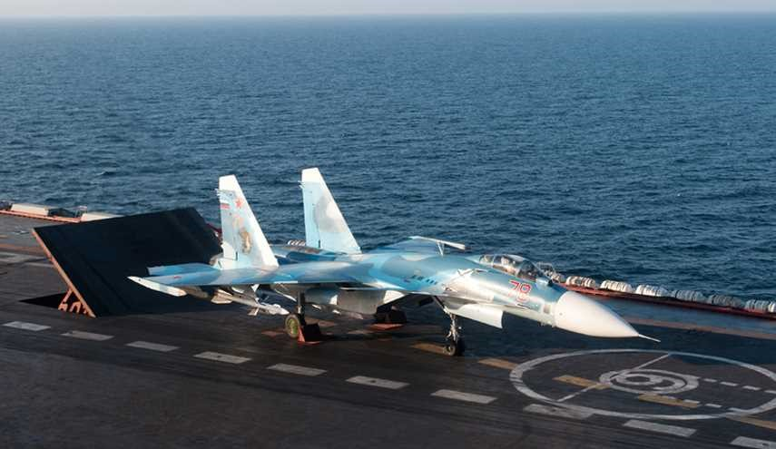 Russia Fighter Jets Perform 'Interaction' Flights in Syria from Aircraft Carrier