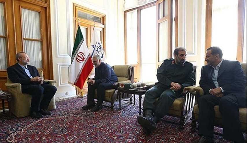 IRGC Qods Force Commander Meets Parliament Speaker
