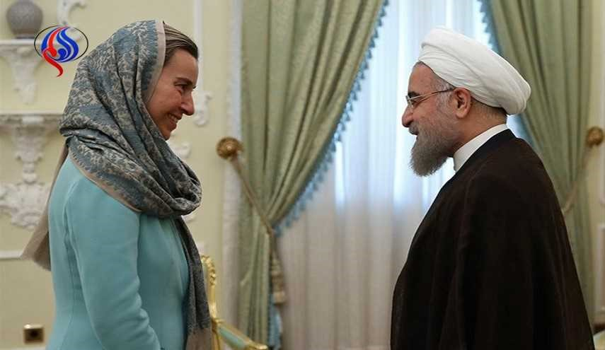 EU's Mogherini Congratulates Rouhani on Re-Election