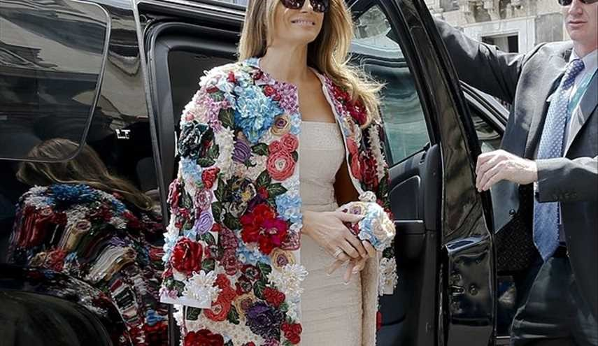 PHOTOS: Melania Trump's Pricey Jacket Draws Attention in Sicily