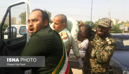 تصاویری از حمله تروریستی امروز در اهواز