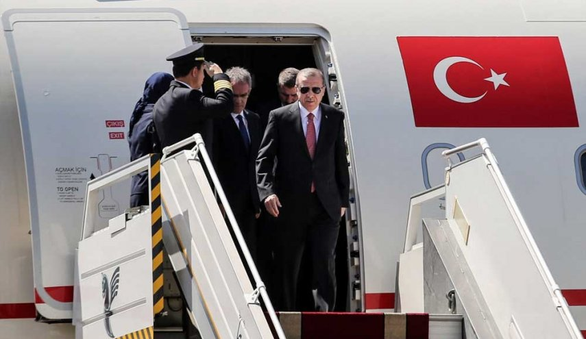 Turkish president arrives in Tehran