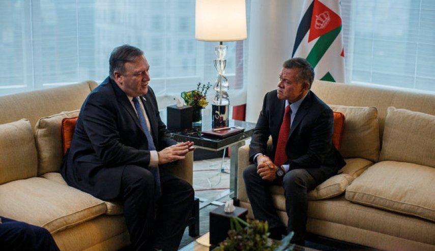 در دیدار با وزیر خارجه آمریکا شاه اردن بر گزینه 2 دولتی برای حل مسئله فلسطین تاکید کرد