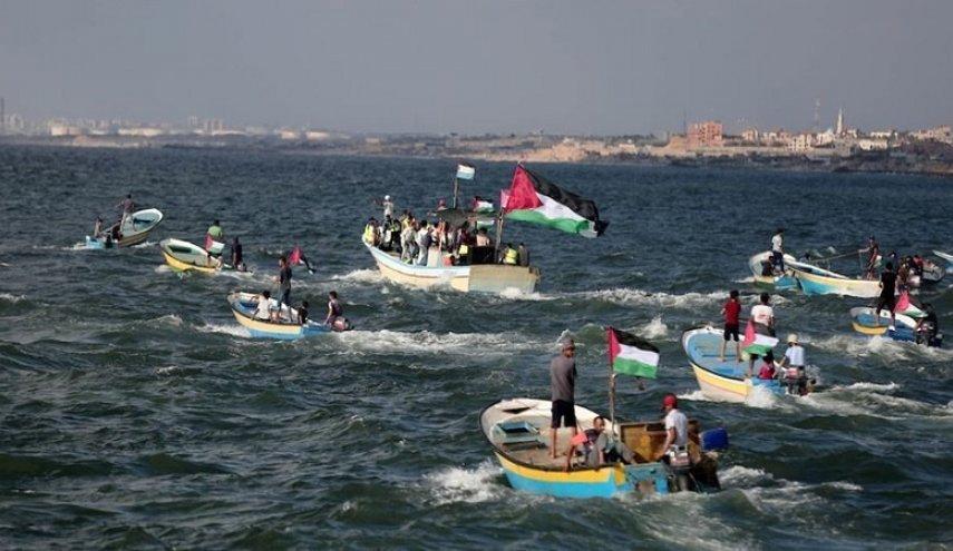 دوازدهمین « دریایی» در شمال غزه/ تیراندازی مستقیم صهیونیست ها علیه فلسطینیان