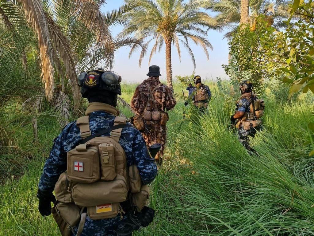 """بالصور.. الاعلام الامني يعثر على اوكار لـ""""داعش"""" في الطارمية"""