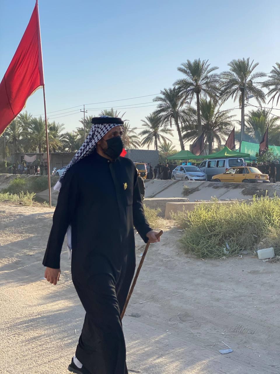 بالصور.. الشيخ قيس الخزعلي في مسيرات اربعين الامام الحسين (ع)